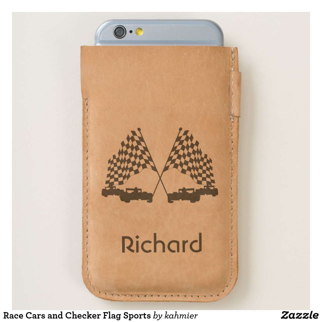 Race Cars and Checker Flag Sports iPhone 6/6S Case