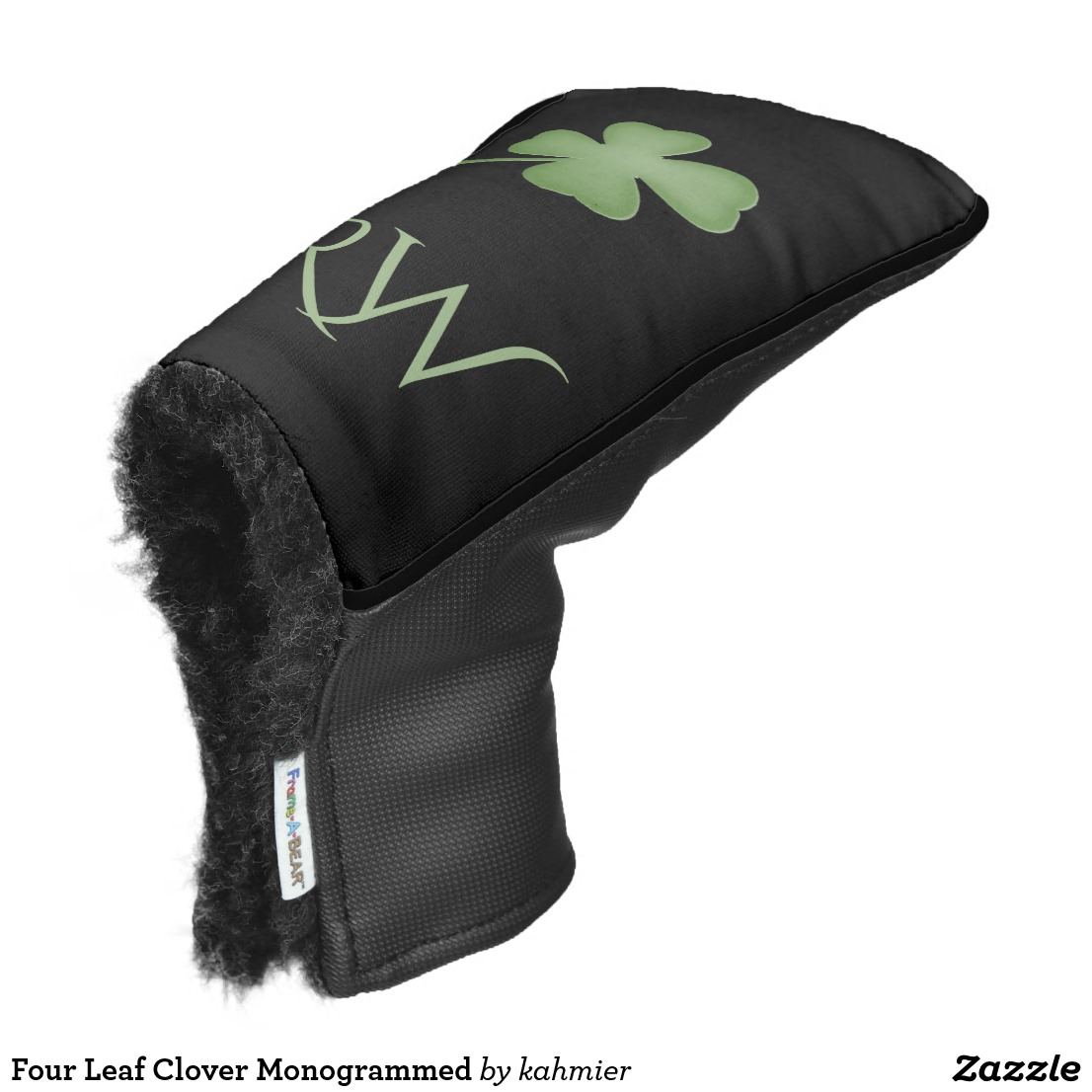 Four Leaf Clover Monogrammed Golf Head Cover