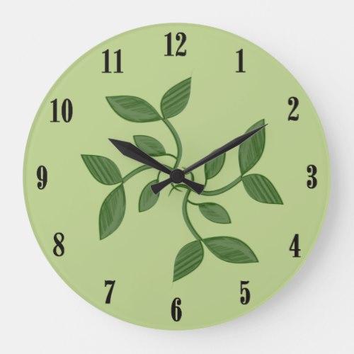Green Vines Decorative Wall Clock