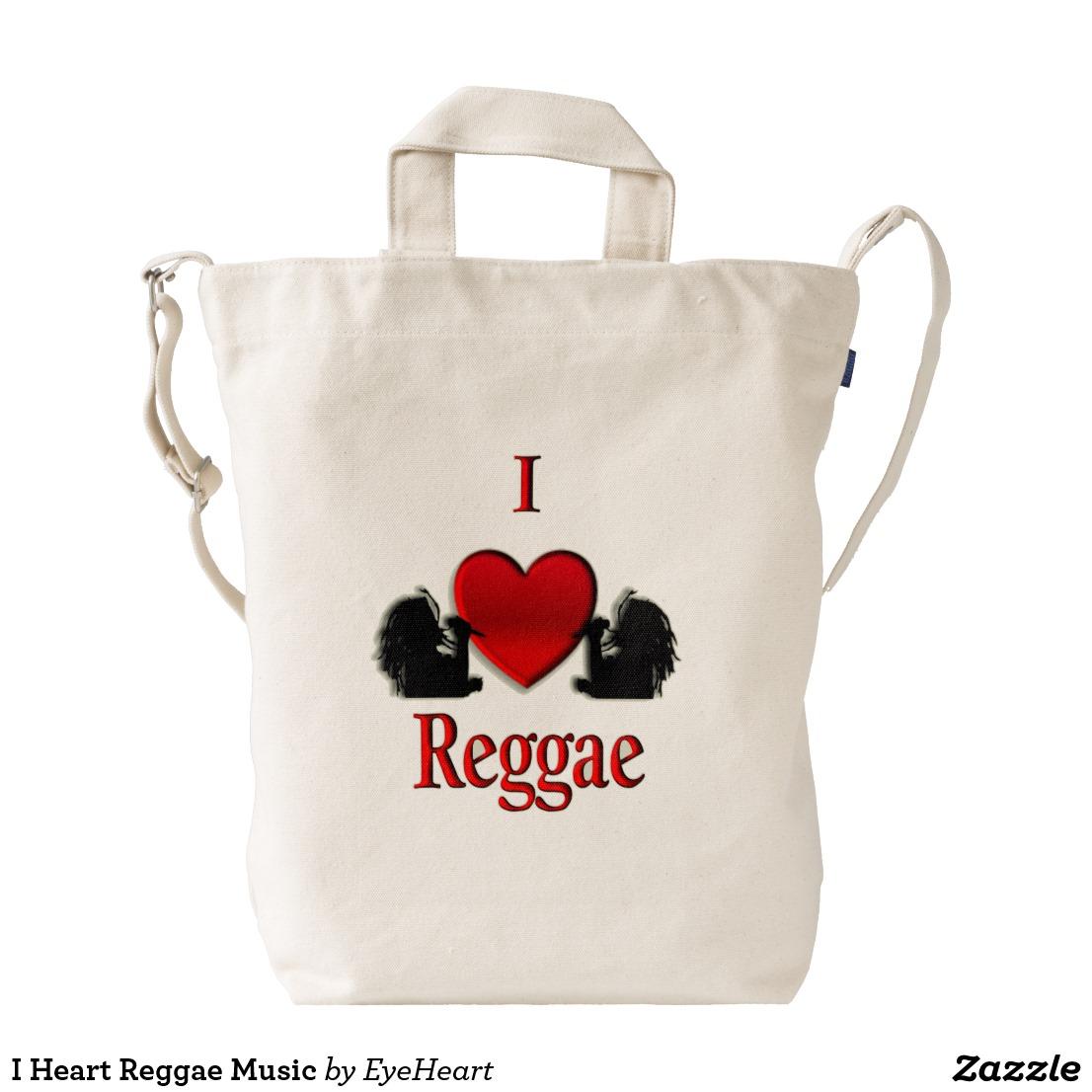 I Heart Reggae Music Duck Bag