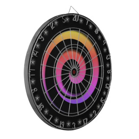 Spiral Hypnotic Colors Regulation Size Dart Board