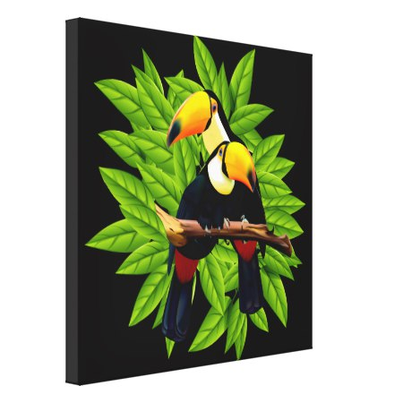 Toucan Duo Canvas Print