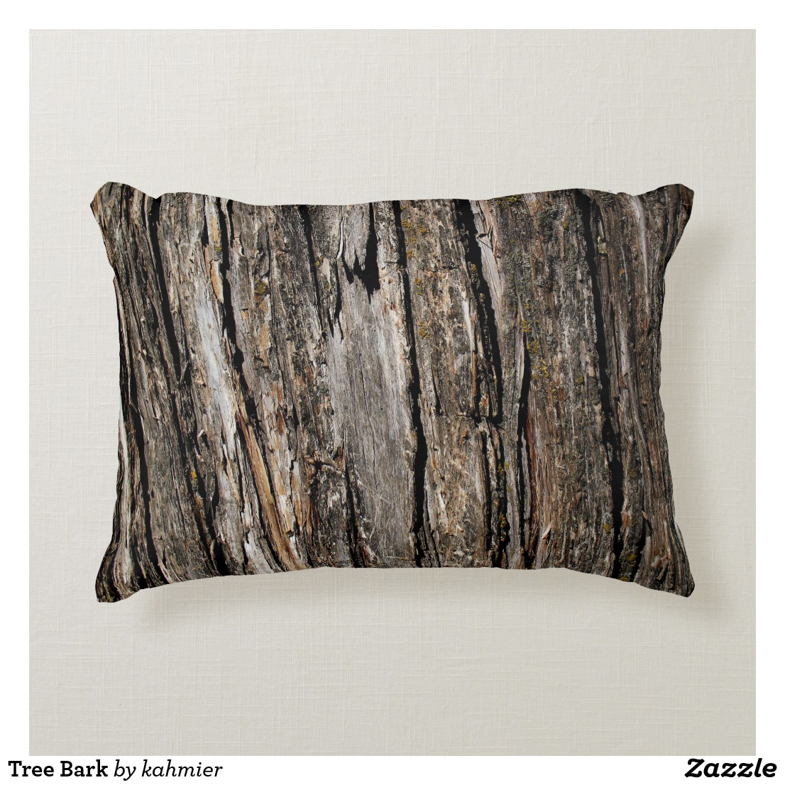 Tree Bark Accent Pillow