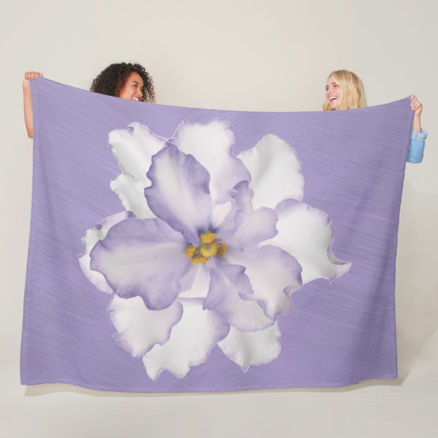 Beautiful Lavender Orchid Fleece Blanket