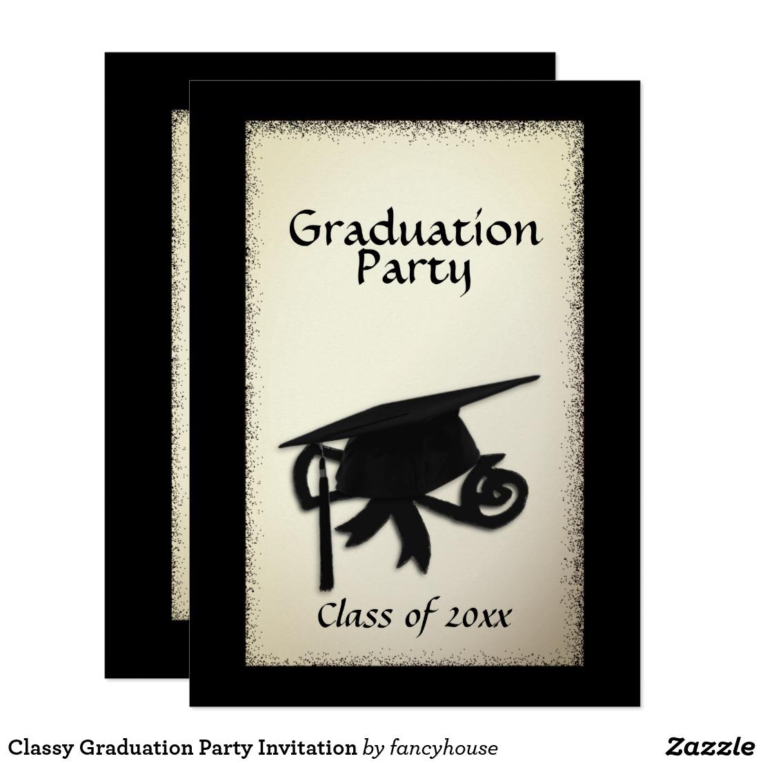 Classy Graduation Party Invitation