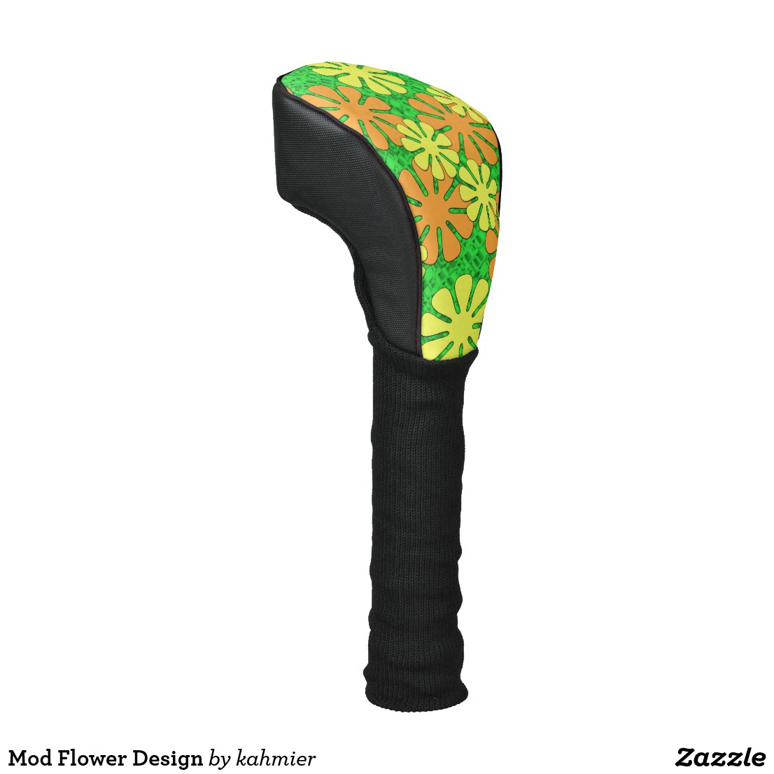 Mod Flower Design Golf Head Cover