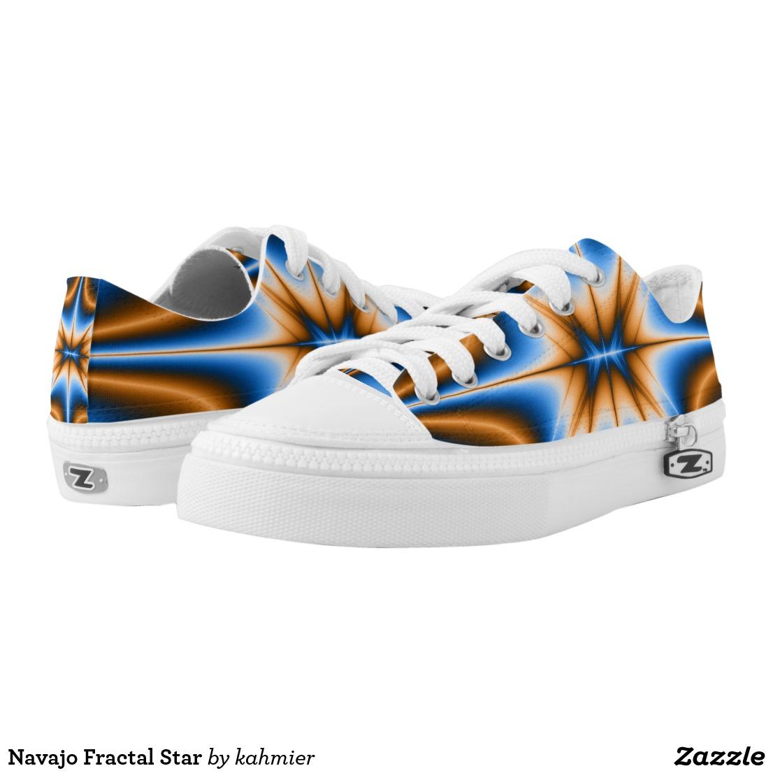 Navajo Fractal Star Low-Top Sneakers