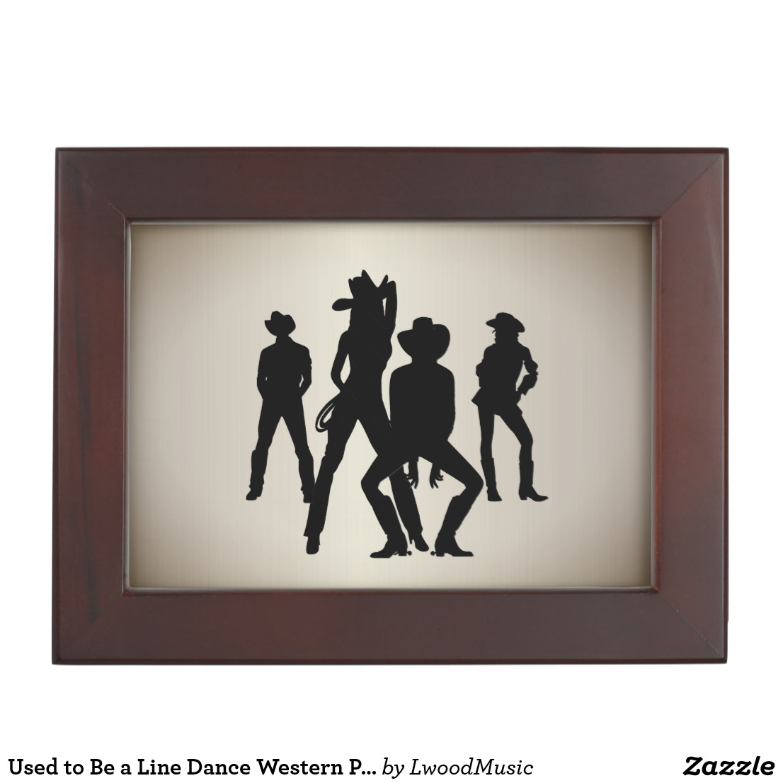 Used to Be a Line Dance Western Personalized Keepsake Box