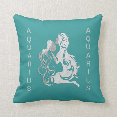 Aquarius Water Bearer Zodiac American jo Pillow