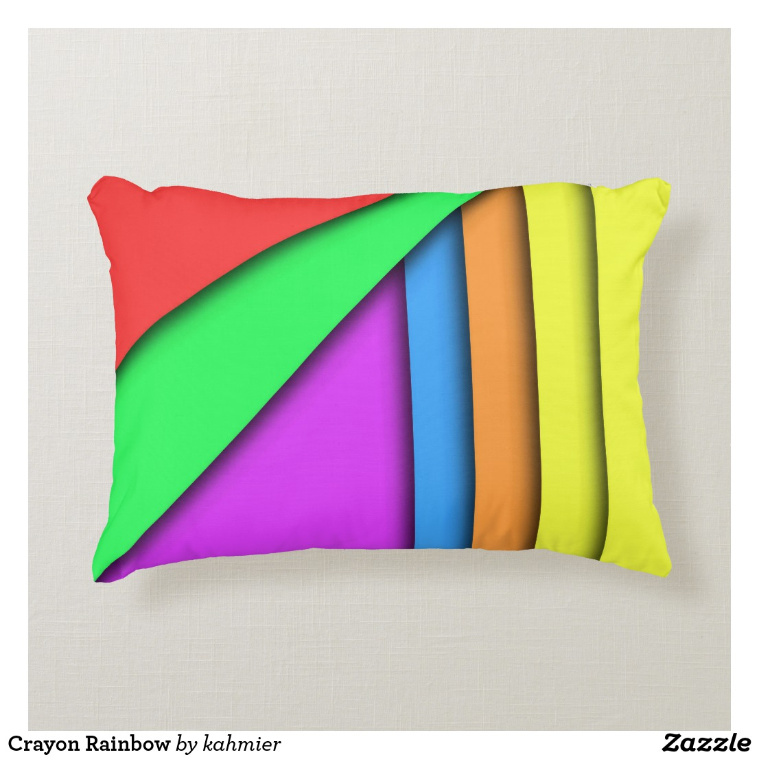 Crayon Rainbow Accent Pillow