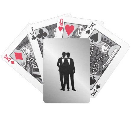Groom and Groom Wedding Bicycle Playing Cards