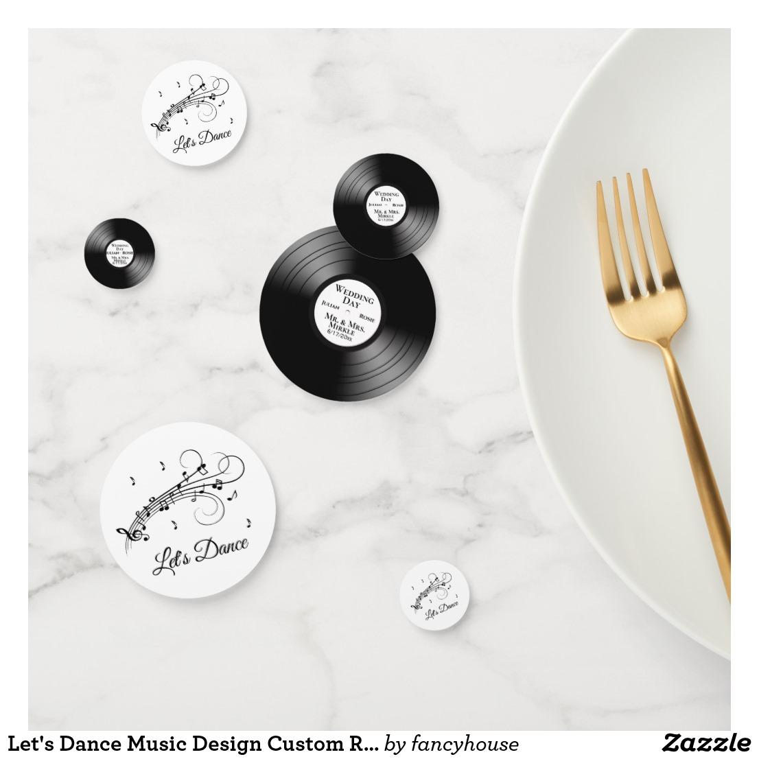 Let's Dance Music Design Custom Records Confetti