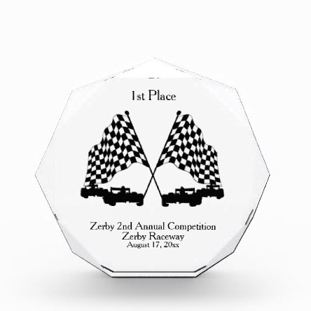 Racing Trophy Acrylic Award
