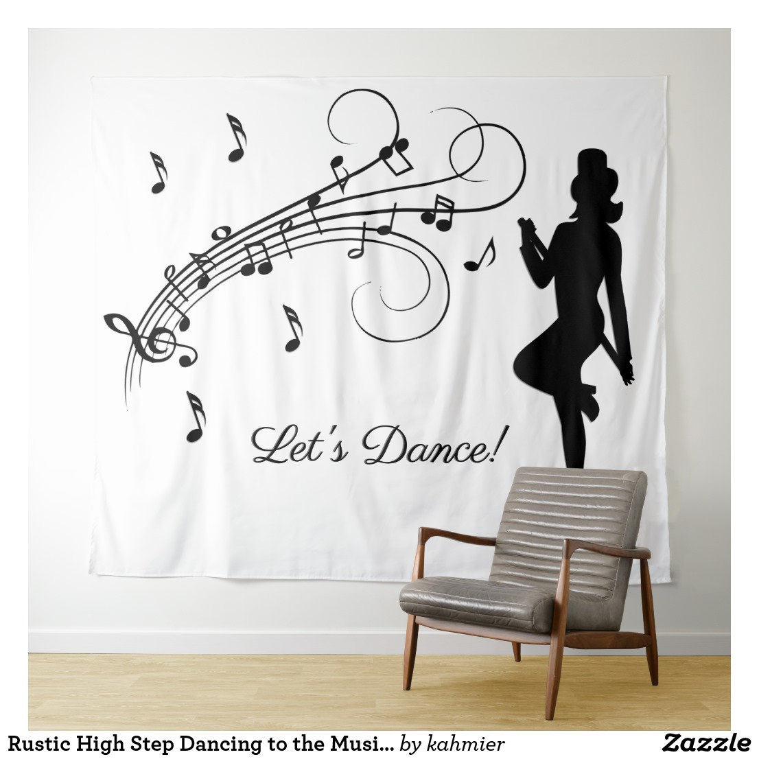 Rustic High Step Dancing to the Music Custom Tapestry