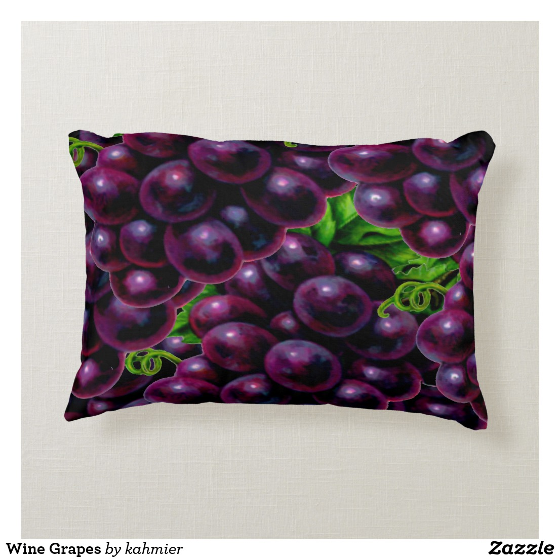 Wine Grapes Accent Pillow