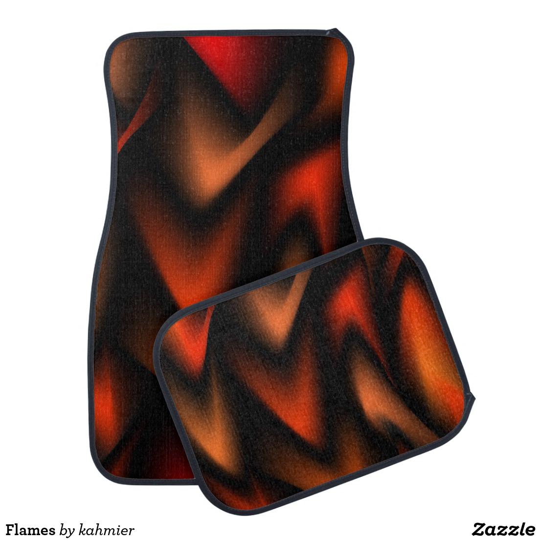 Flames Car Floor Mat