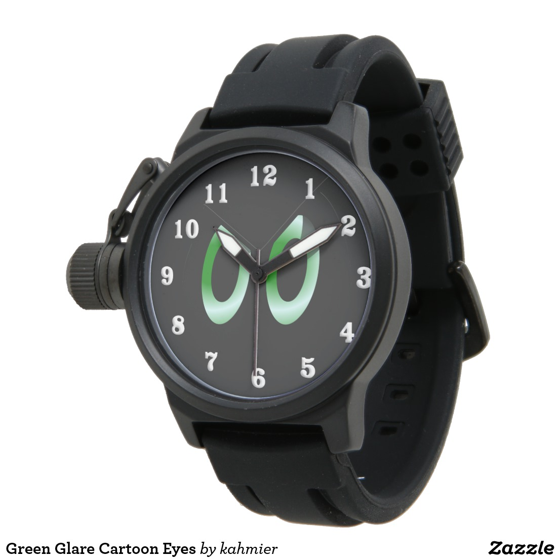 Green Glare Cartoon Eyes Watch