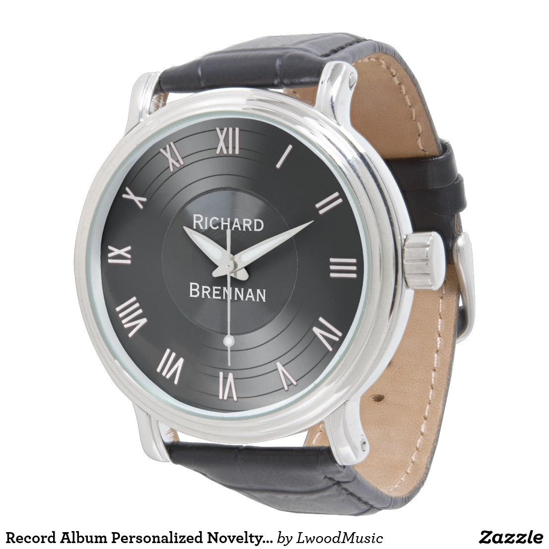 Record Album Personalized Novelty Roman Numerals Watch