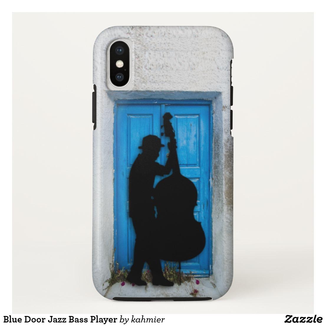 Blue Door Jazz Bass Player Case-Mate iPhone Case
