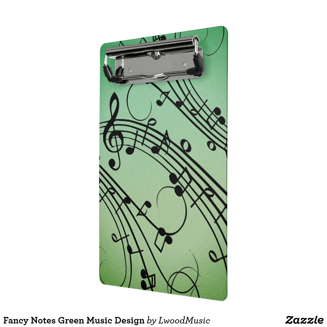 Fancy Notes Green Music Design Mini Clipboard