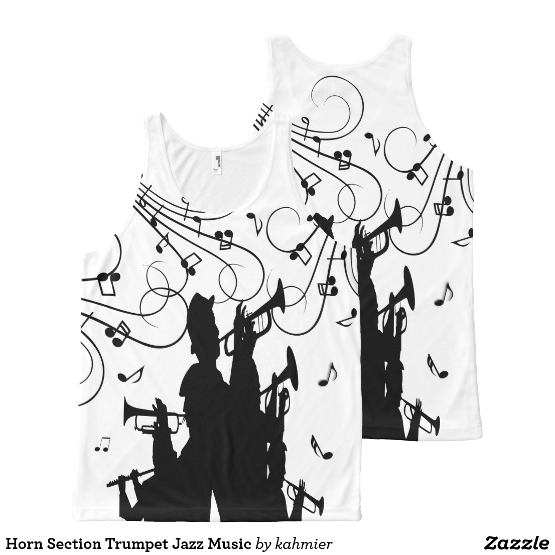 Horn Section Trumpet Jazz Music All-Over-Print Tank Top