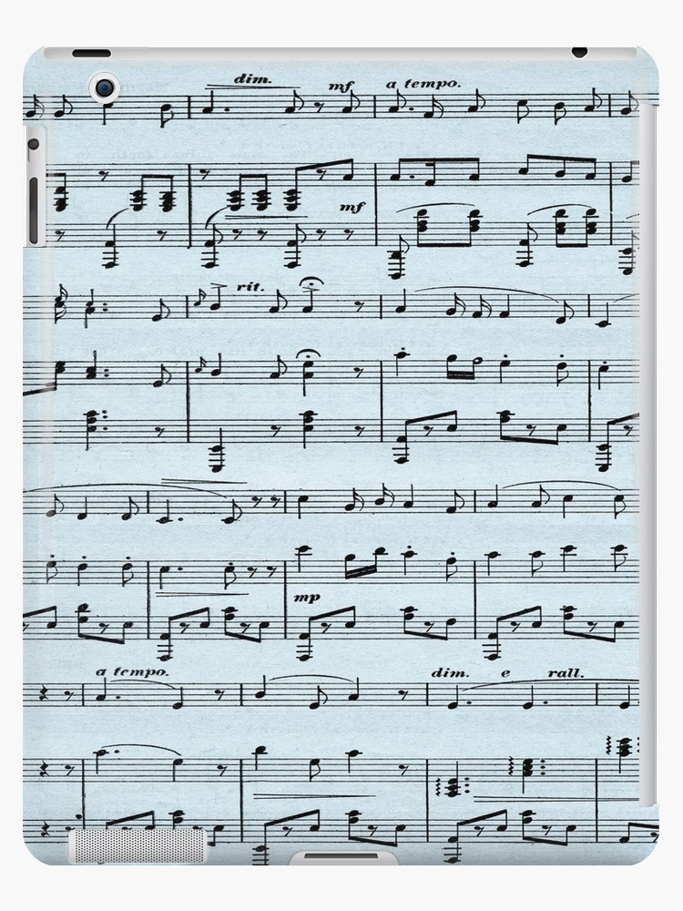 Antique Sheet Music Blue  by Leatherwood   Design