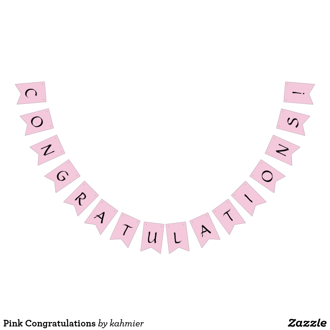 Pink Congratulations Bunting Flags