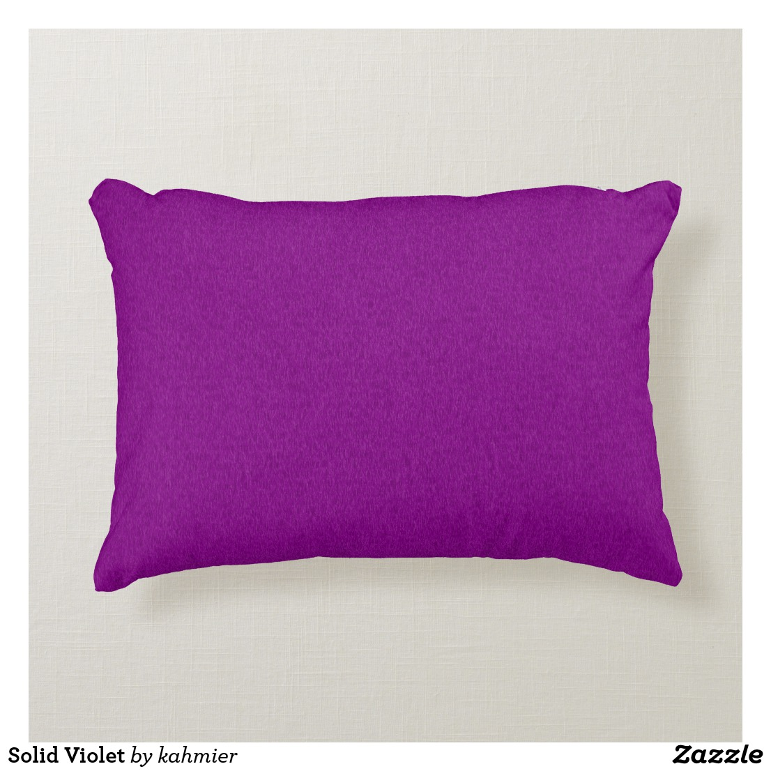 Solid Violet Accent Pillow