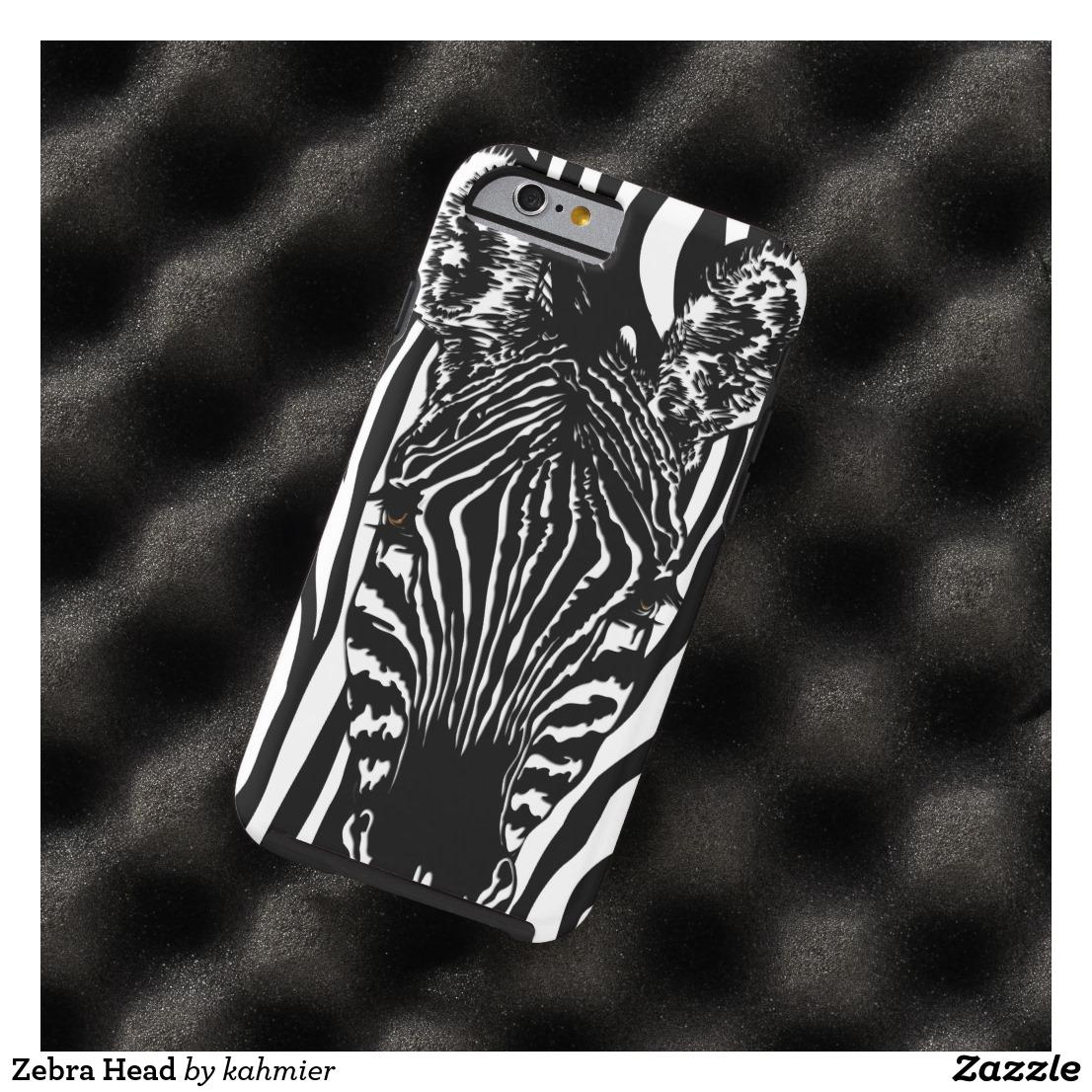 Zebra Head Case-Mate iPhone Case