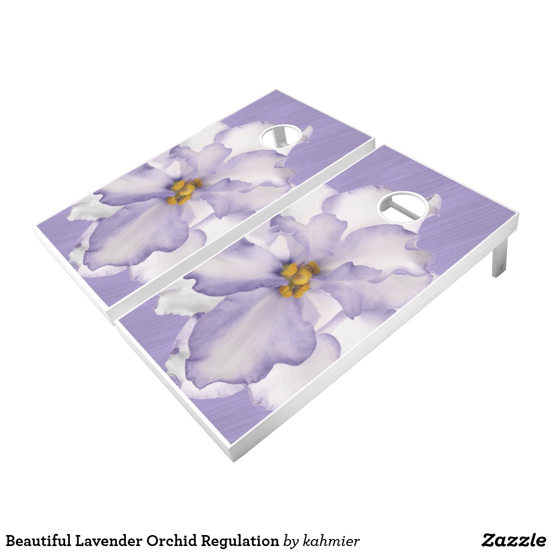 Beautiful Lavender Orchid Regulation Cornhole Set