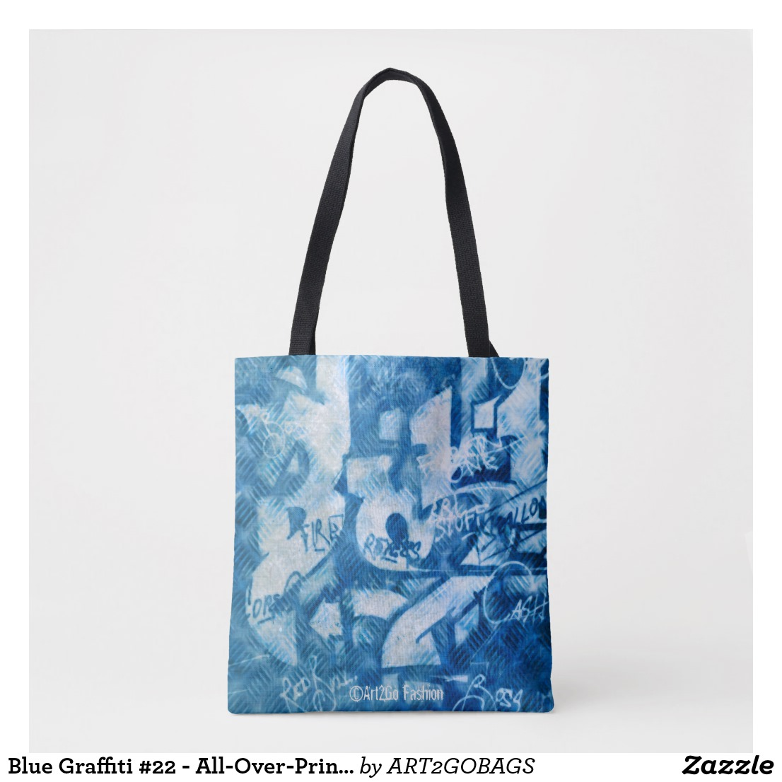 Blue Graffiti #22 - All-Over-Print Cross Body Bag