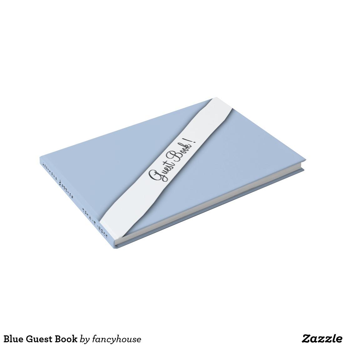 Blue Guest Book