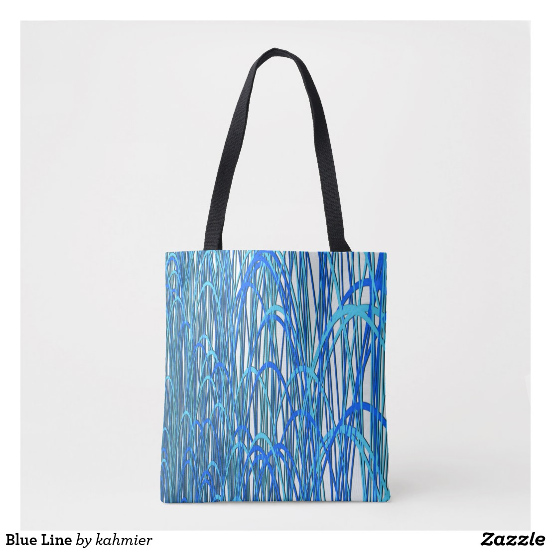 Blue Line Tote Bag