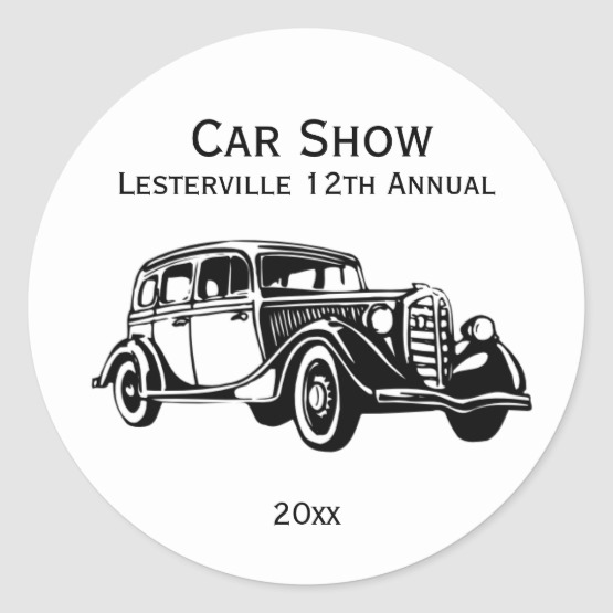 Classic Car Stickers Customize
