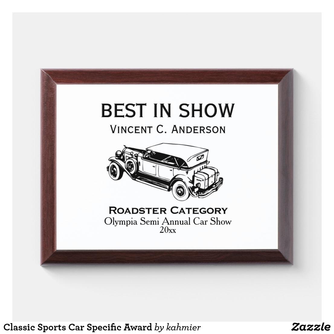 Classic Sports Car Award