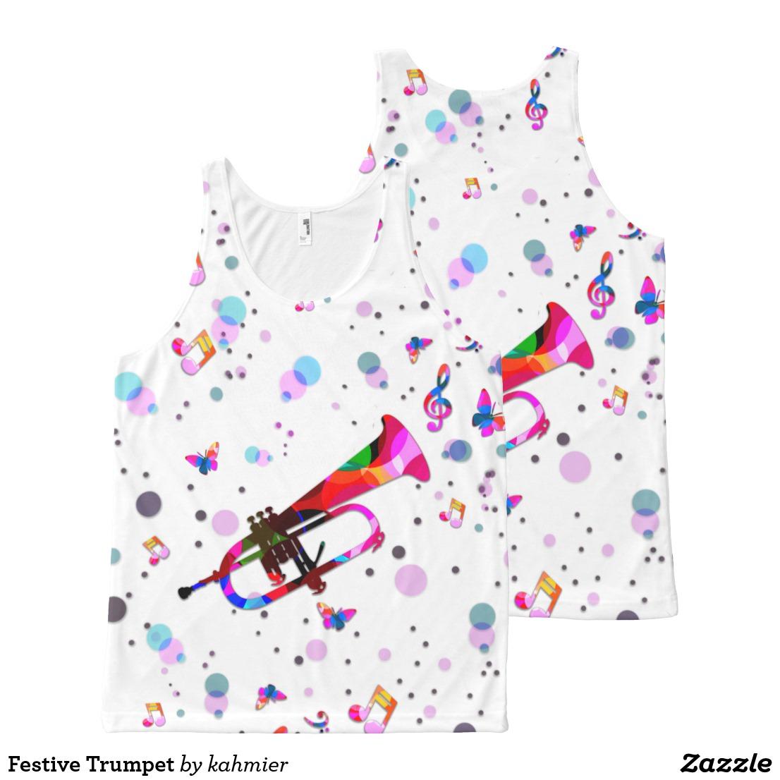 Festive Trumpet All-Over-Print Tank Top
