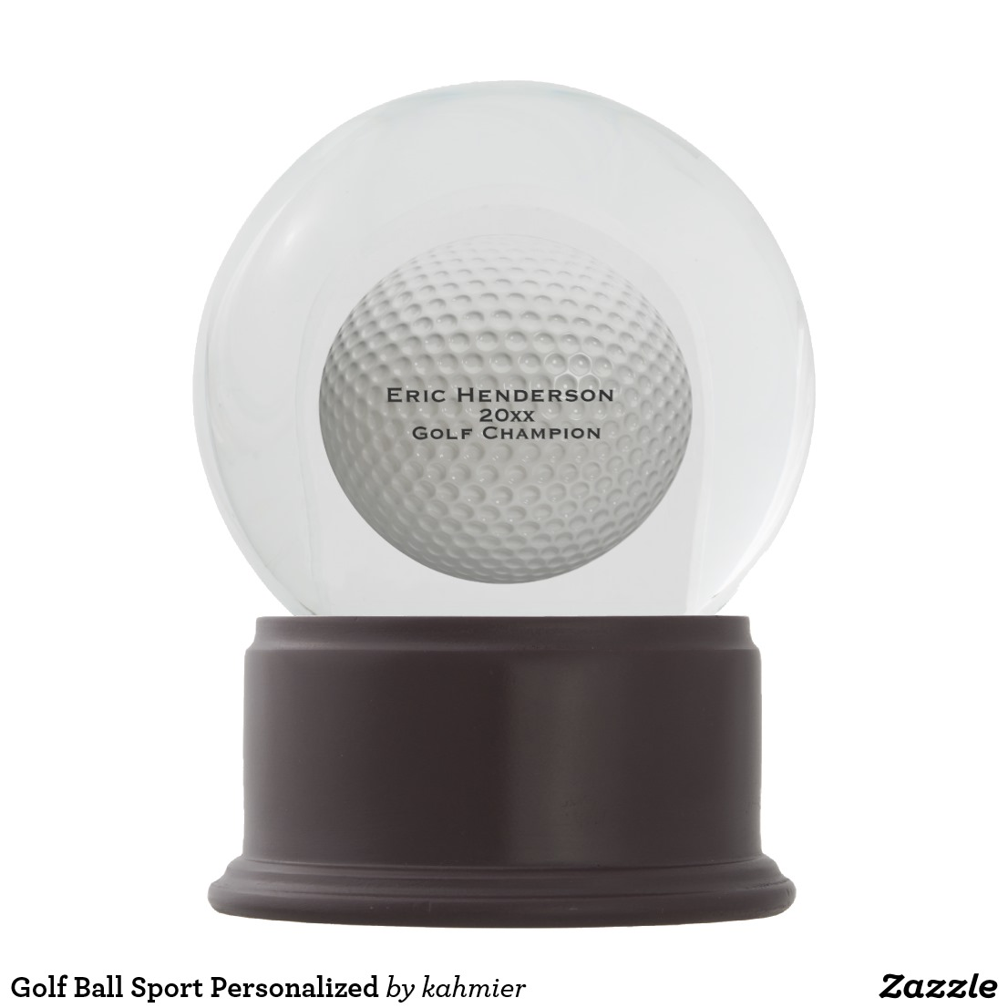 Golf Ball Sport Personalized Snow Globe