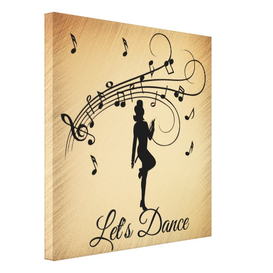 High Step Dancing to the Music Custom Canvas Print