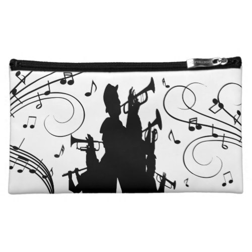 Horn Section Trumpet Jazz Music Cosmetic Bag