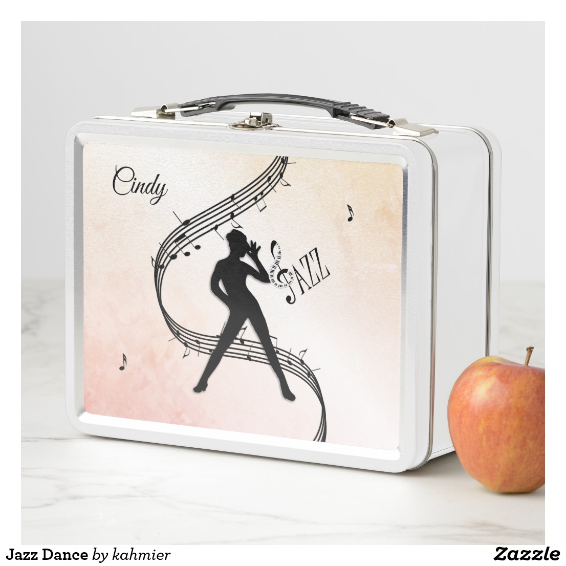 Jazz Dance Metal Lunch Box