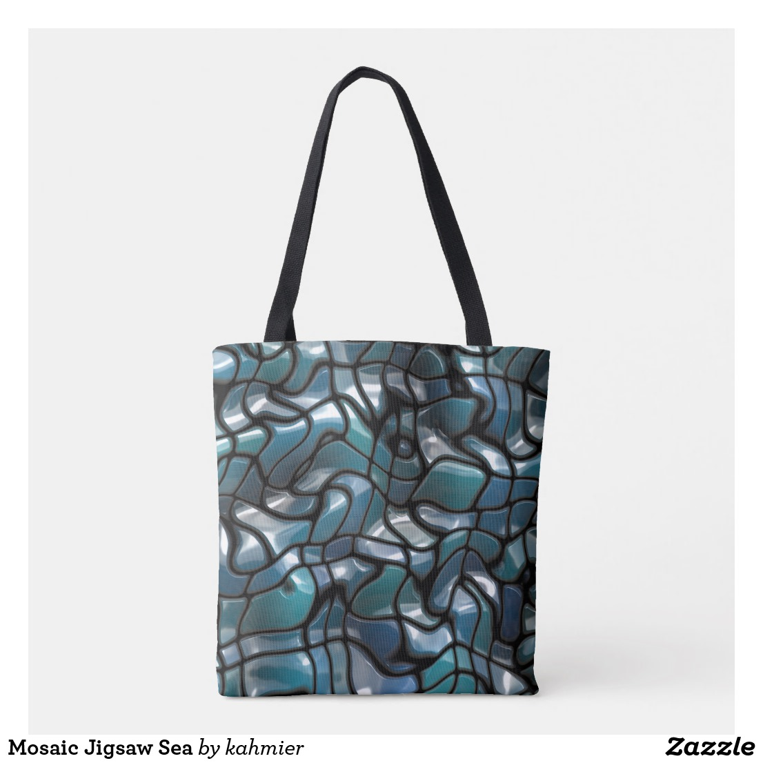 Mosaic Jigsaw Sea Crossbody Bag