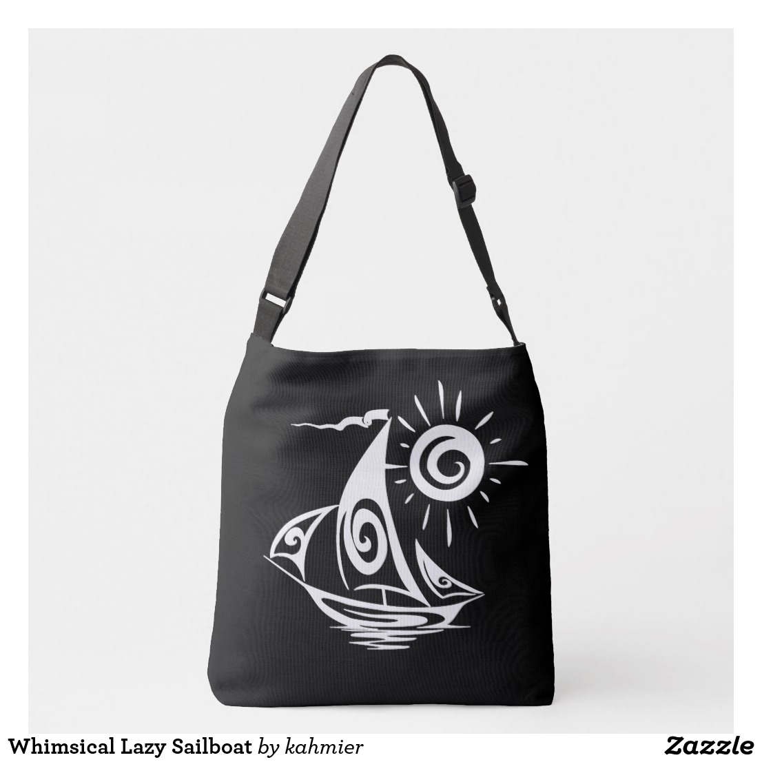 Whimsical Lazy Sailboat Crossbody Bag