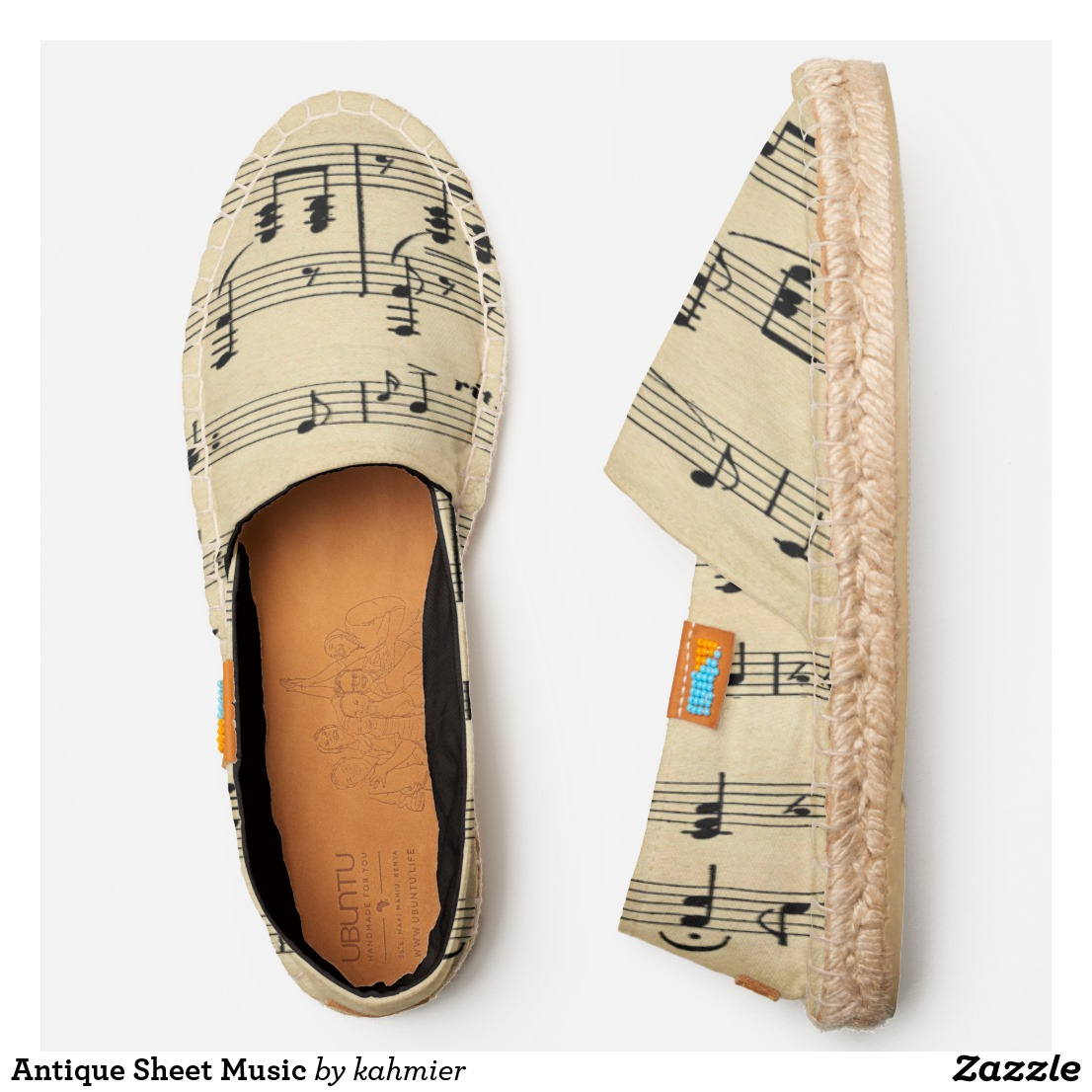 Antique Sheet Music Espadrilles
