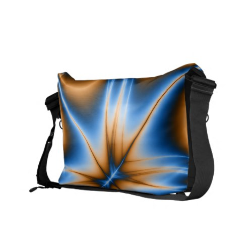 Navajo Blue Fractal Messenger Bag