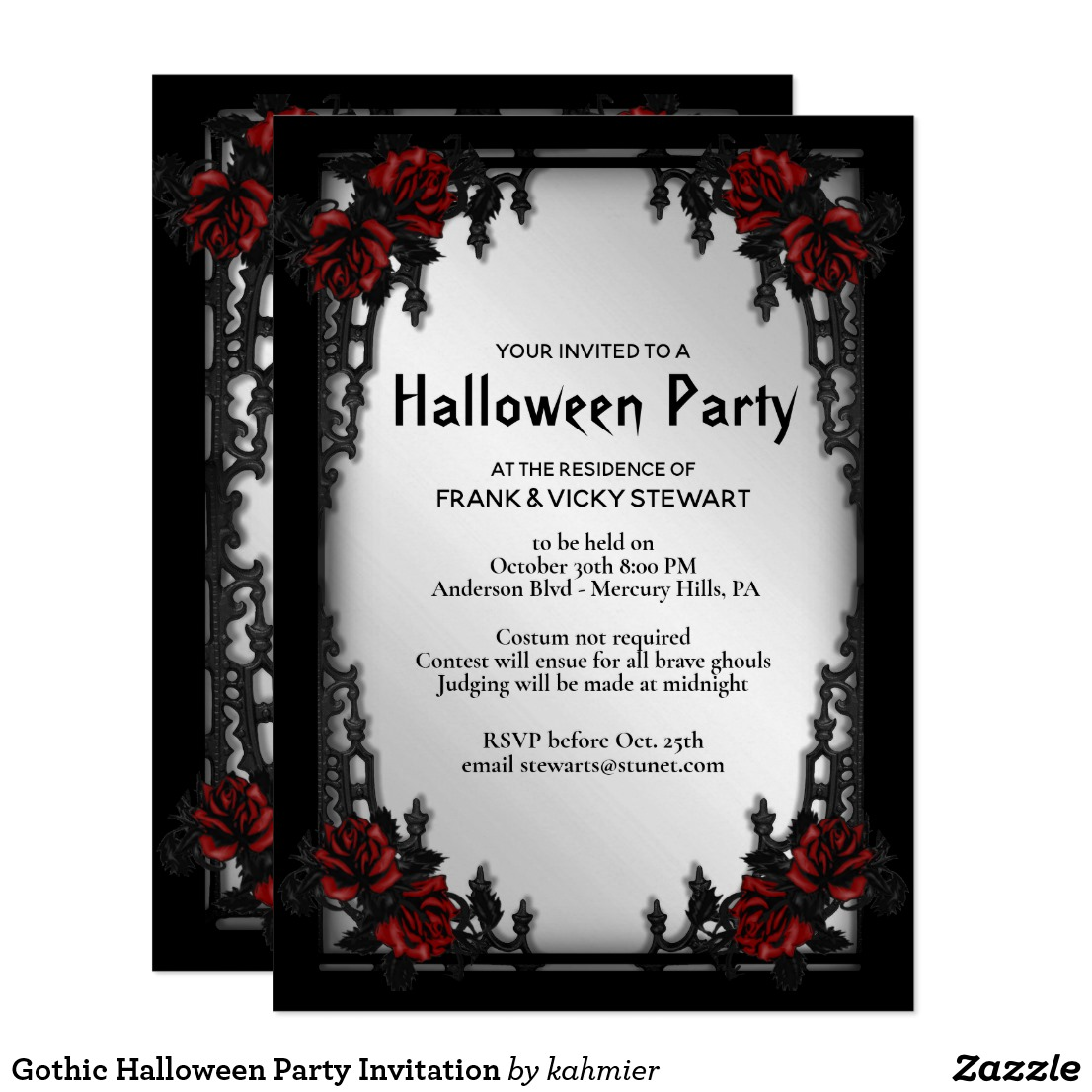 Gothic Halloween Party Invitation