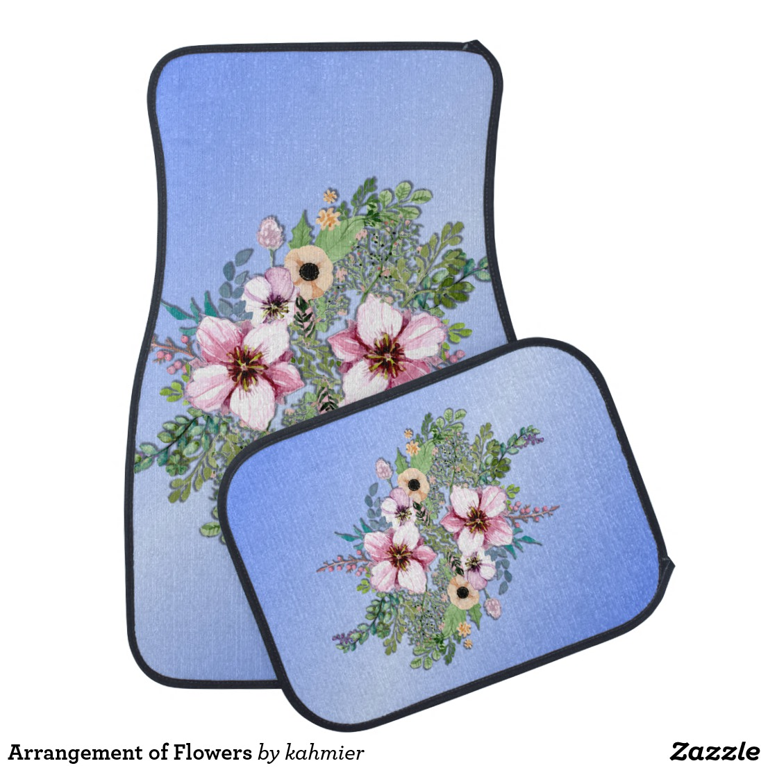 Arrangement of Flowers Car Floor Mat