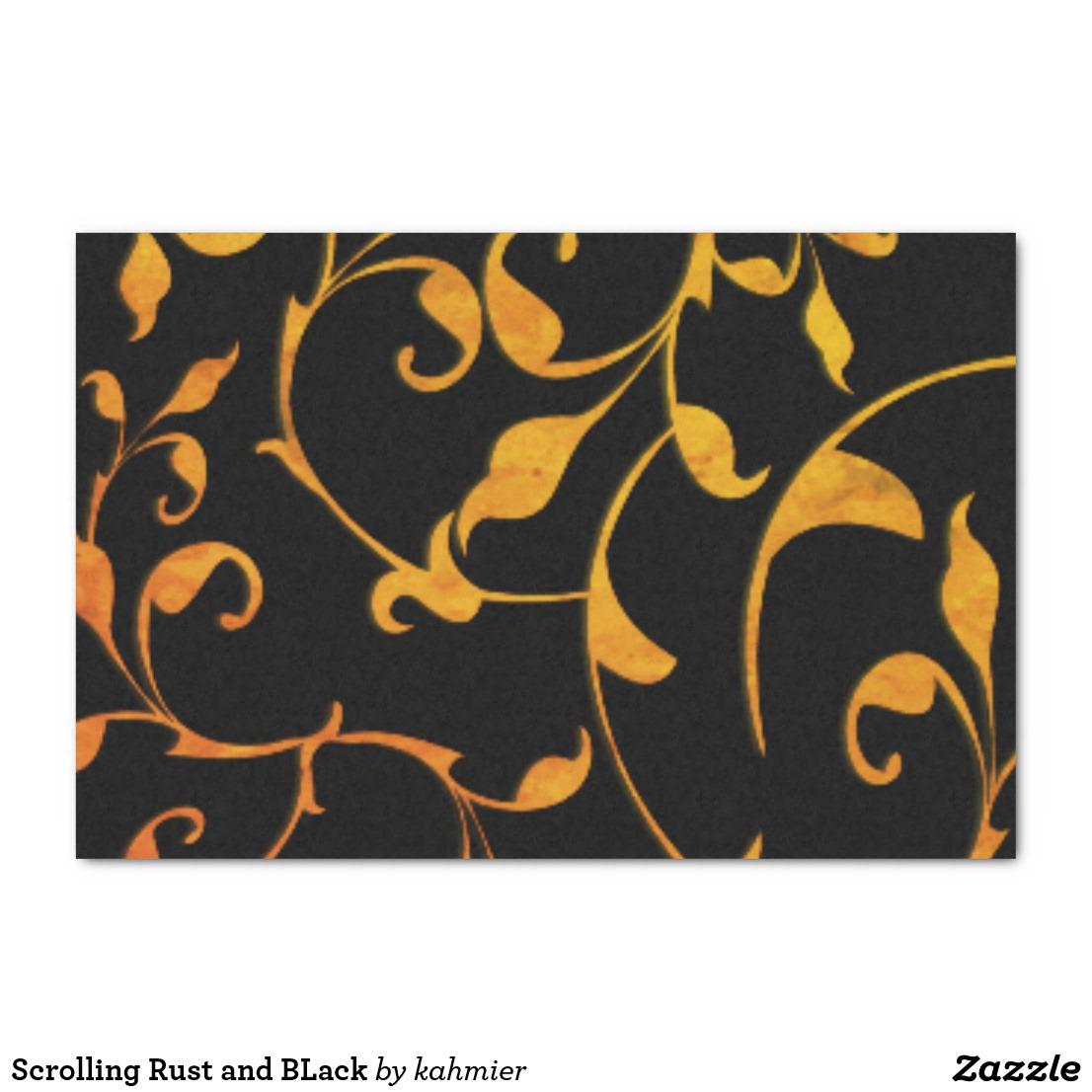 Scrolling Rust and BLack Tissue Paper