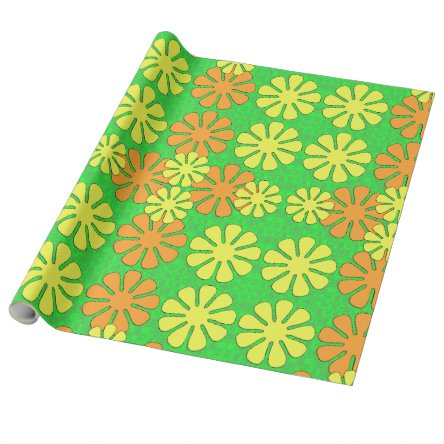 Mod Flower Design Wrapping Paper