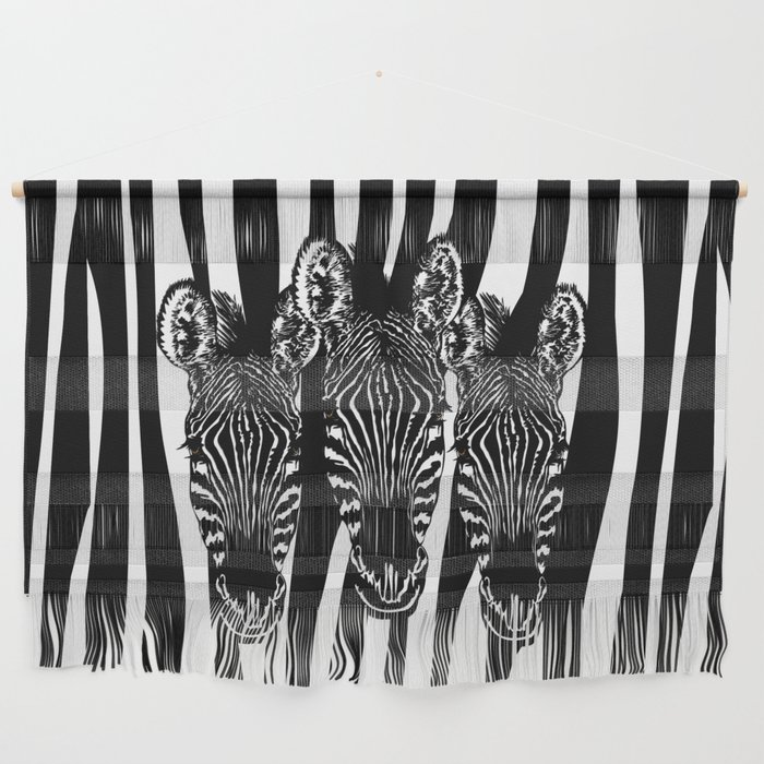 Zebra Modern Art Design Wall Hanging