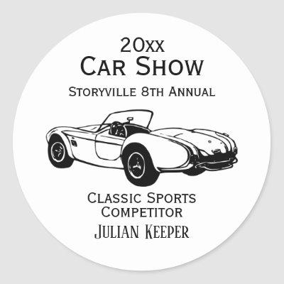 Car Show Stickers Customize